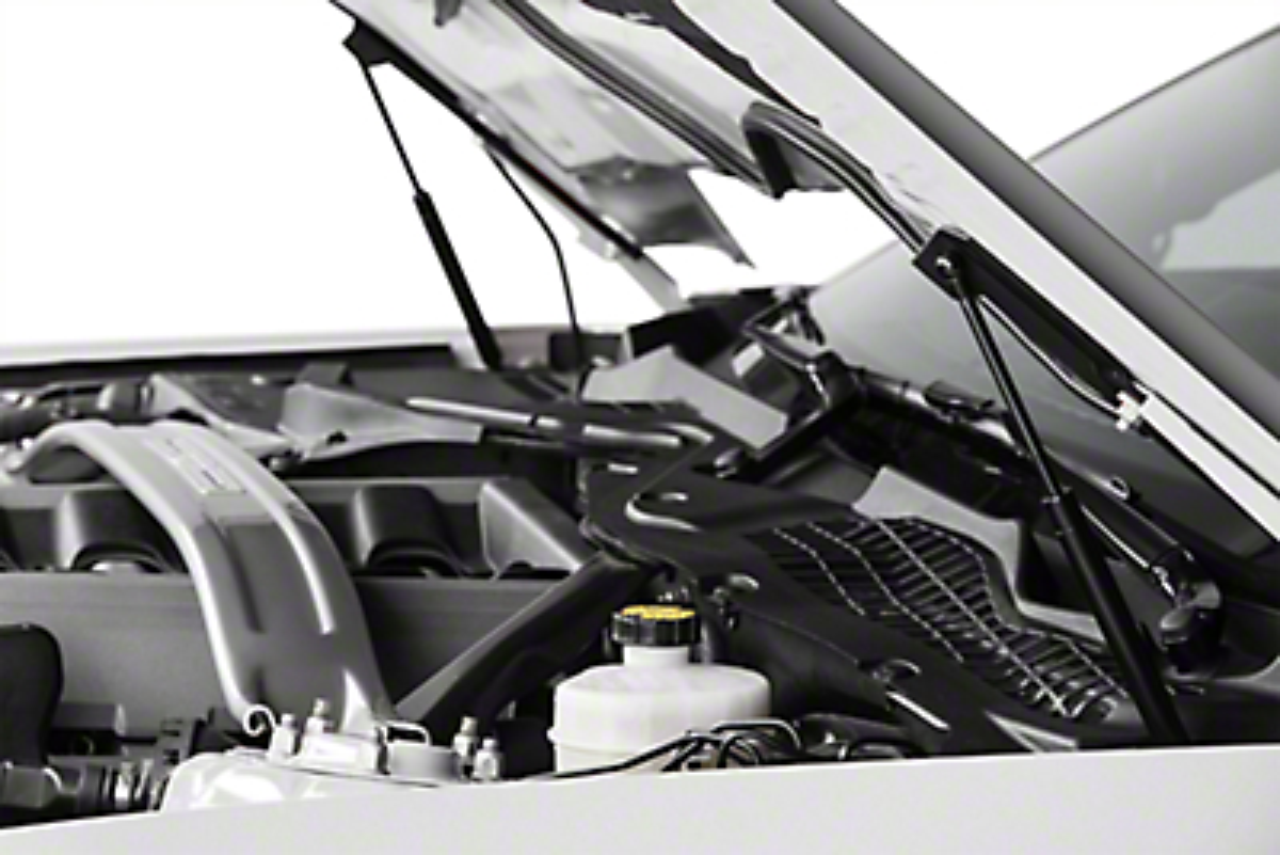 MMD Bolt On Hood Strut Kit - Black (15-17 GT, EcoBoost, V6)