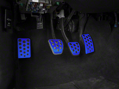 Bullitt Style Pedal Covers - Manual - Blue (94-04 All)