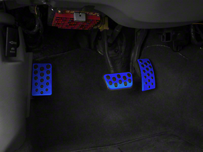 Bullitt Style Pedal Covers - Automatic - Blue (94-04 All)