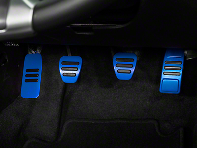 GT500 Style Pedal Covers - Manual - Blue (05-14 GT, V6)