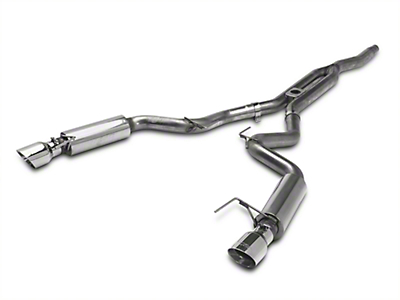 MBRP Race Cat-Back Exhaust w/ Y-Pipe - Stainless Steel - Fastback (15-17 EcoBoost)