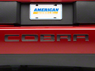 SpeedForm Black Chrome Bumper Insert Letters (03-04 Cobra)
