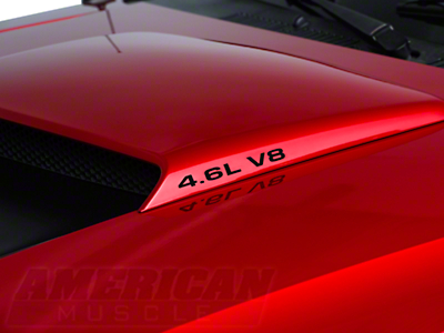 4.6L V8 Hood Scoop Decals - Black (96-04 GT)