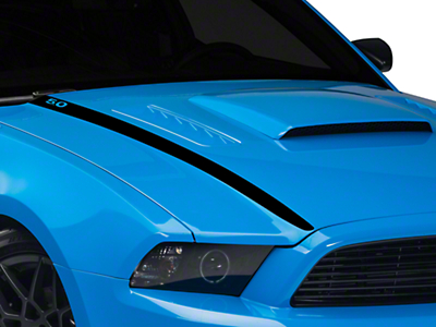 Black Hood Accent Decal - 5.0 Lettering (13-14 GT, BOSS)