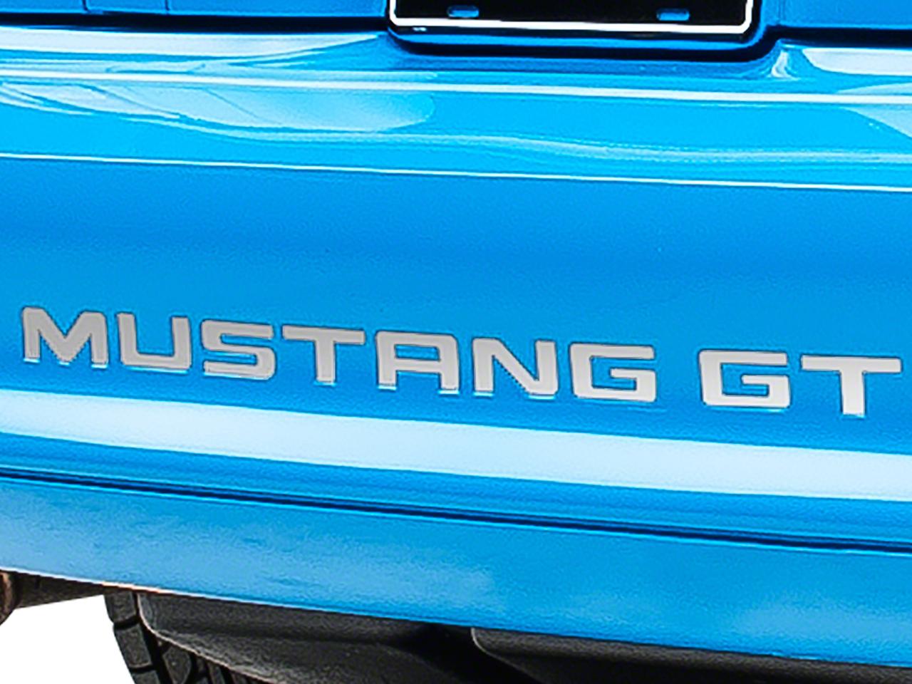 Stainless Steel Vinyl Bumper Insert Letters (94-98 GT, V6; 94-95 Cobra)