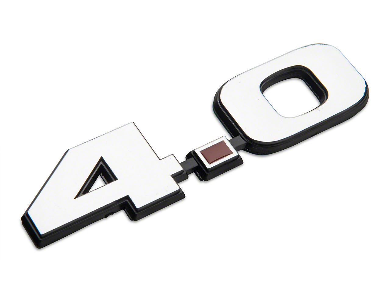 SpeedForm Chrome 4.0L V6 Fender Emblem (05-10 V6)