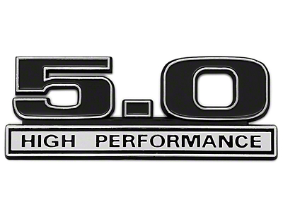 SpeedForm Black 5.0 High Performance Emblem