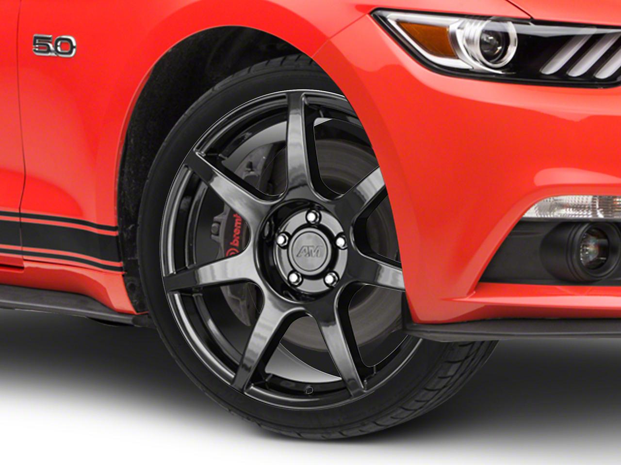 GT350R Style Black Wheel - 19x8.5 (15-17 All)