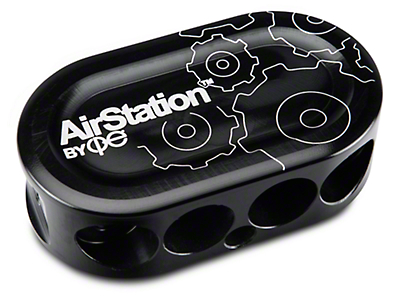 cp-e AirStation Vacuum Block - Anodized Black (79-17 All)