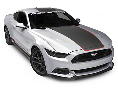 MMD by FOOSE Center Line Graphic Kit - Silver and Orange - Fastback (15-17 All)
