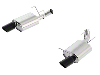Borla Stinger S-Type Axle-Back Exhaust - Black Tips (11-12 GT)