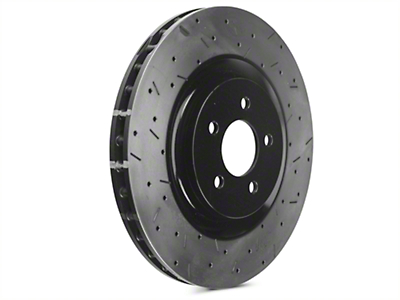DBA 4000XS Series Drilled & Slotted Rotors - Front Pair (07-12 GT500; 12-13 Boss 302; 11-14 GT Brembo)