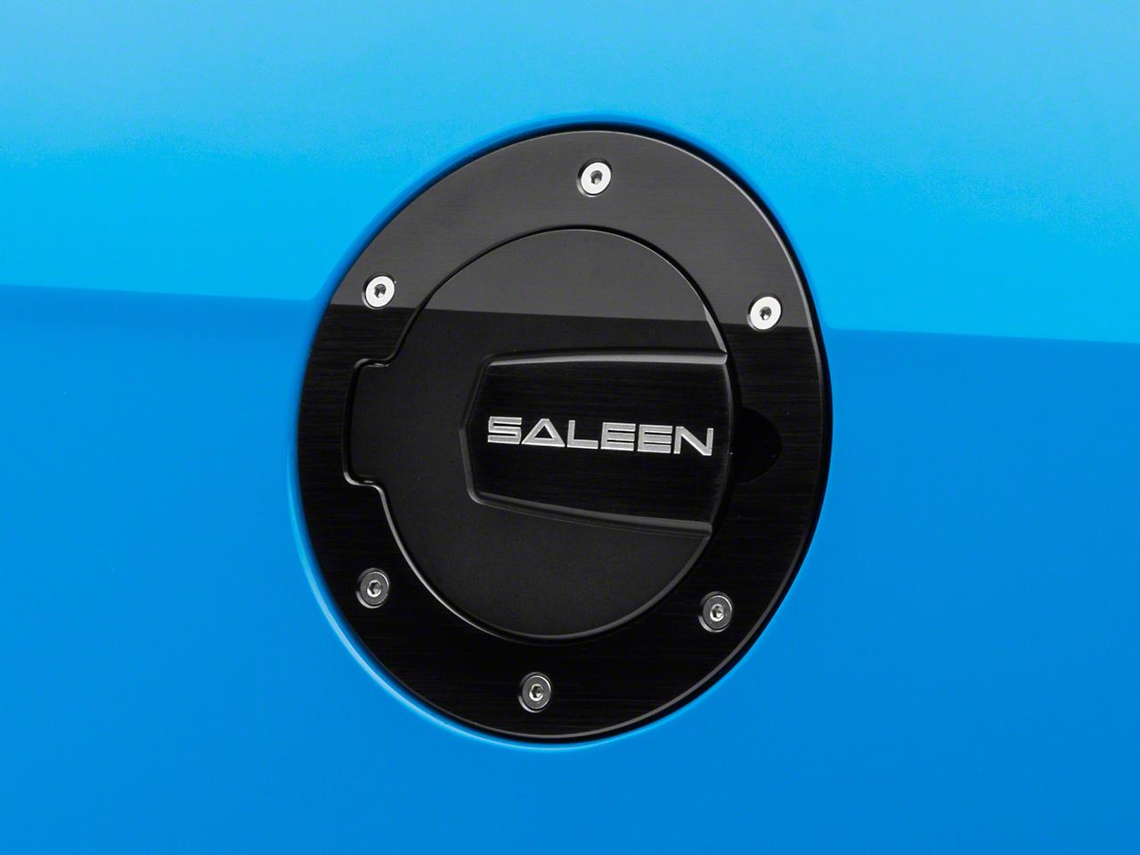 Saleen S302 Aluminum Fuel Door Black Finish (10-14 All)