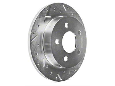Xtreme Stop Precision Cross-Drilled & Slotted Rotors - Rear Pair (94-04 GT, V6)