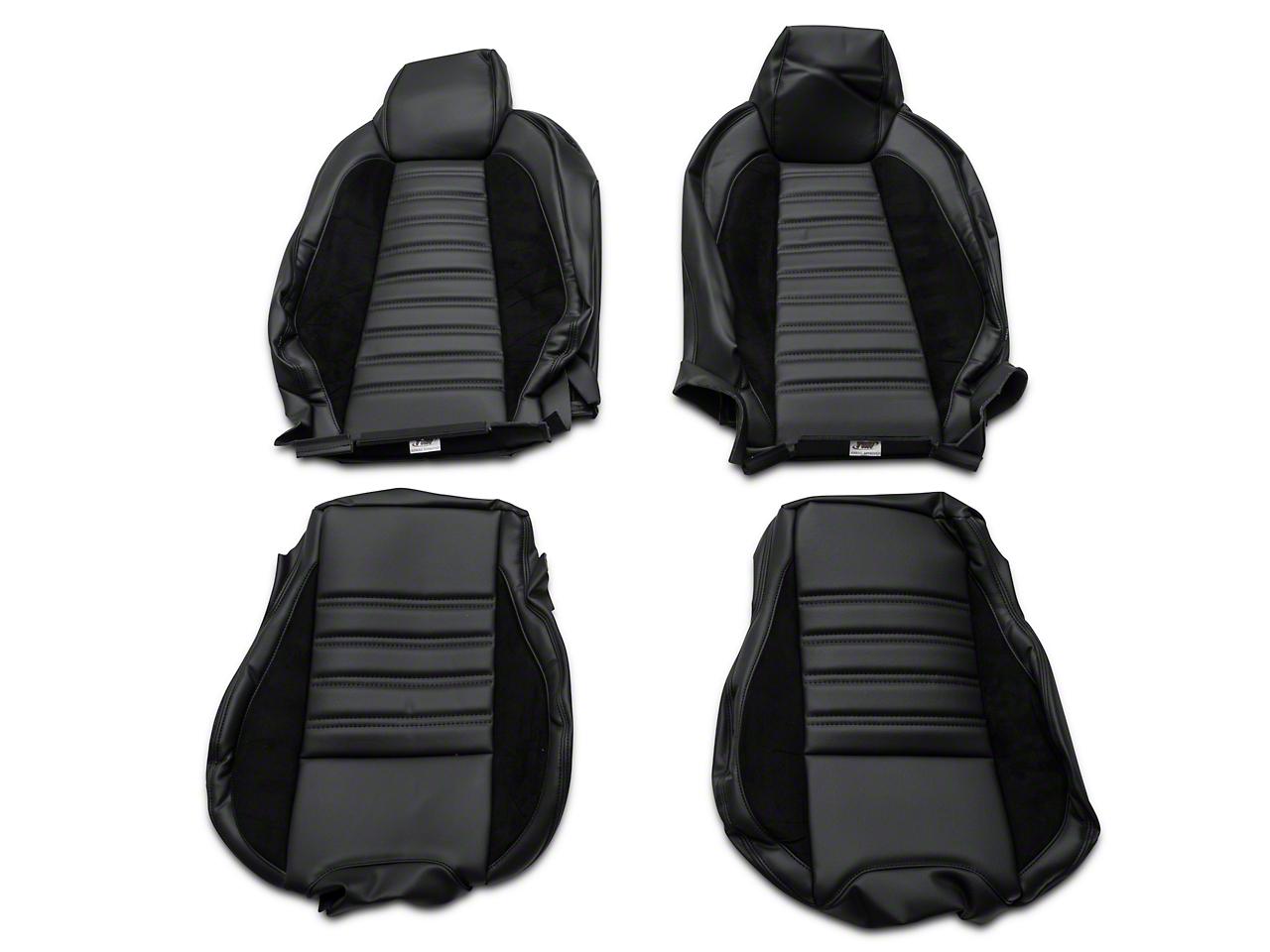 TMI Sport R Black Full Seat Upholstery & Front Bucket Foam (15-17 Fastback)