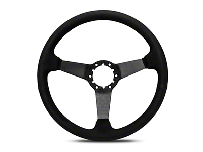 OPR 3 Spoke Steering Wheel - Black Suede (84-04 All)