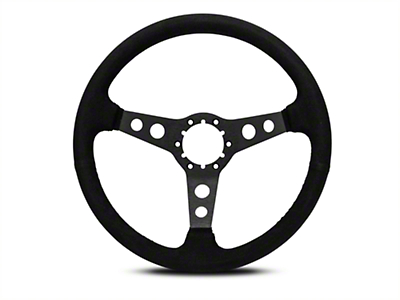 OPR 3 Spoke Steering Wheel w/ Holes - Black Suede (84-04 All)