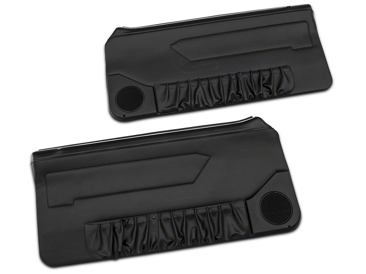 OPR Convertible Door Panels for Manual Windows - Black (87-93 All)