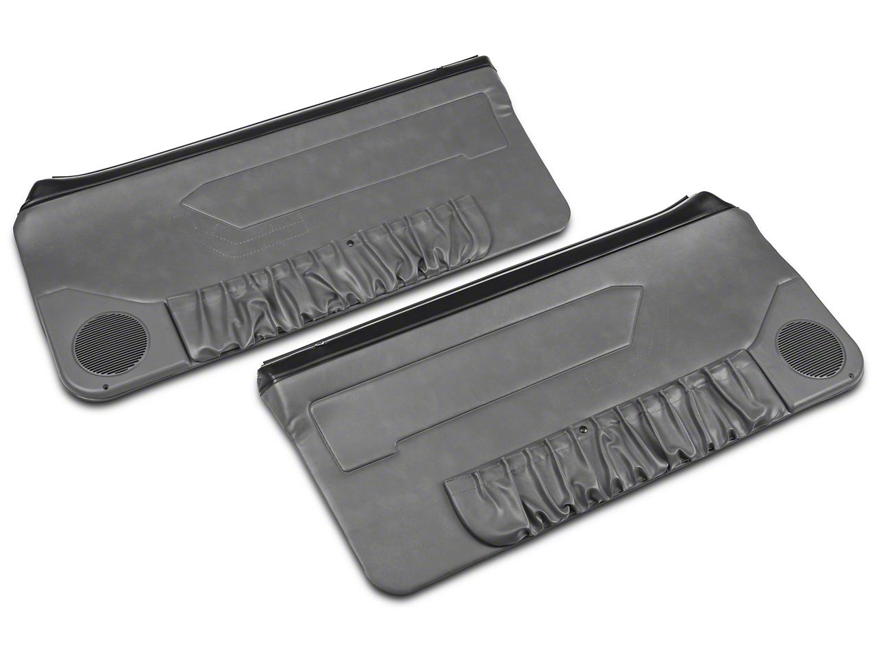 OPR Convertible Door Panels for Manual Windows - Smoke Gray (87-93 All)