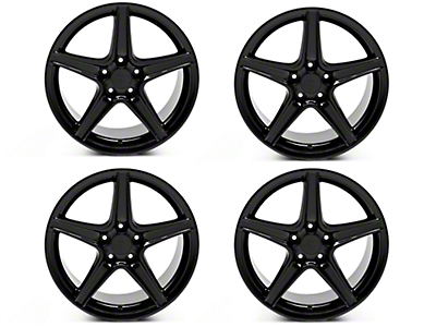 Staggered Saleen Style Black 4 Wheel Kit - 18x9/10 (94-04 All)
