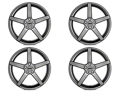 Staggered MMD 551C Charcoal 4 Wheel Kit - 20x8.5/10 (05-14 All)