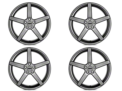 Staggered MMD 551C Charcoal 4 Wheel Kit - 20x8.5/10 (15-17 All)