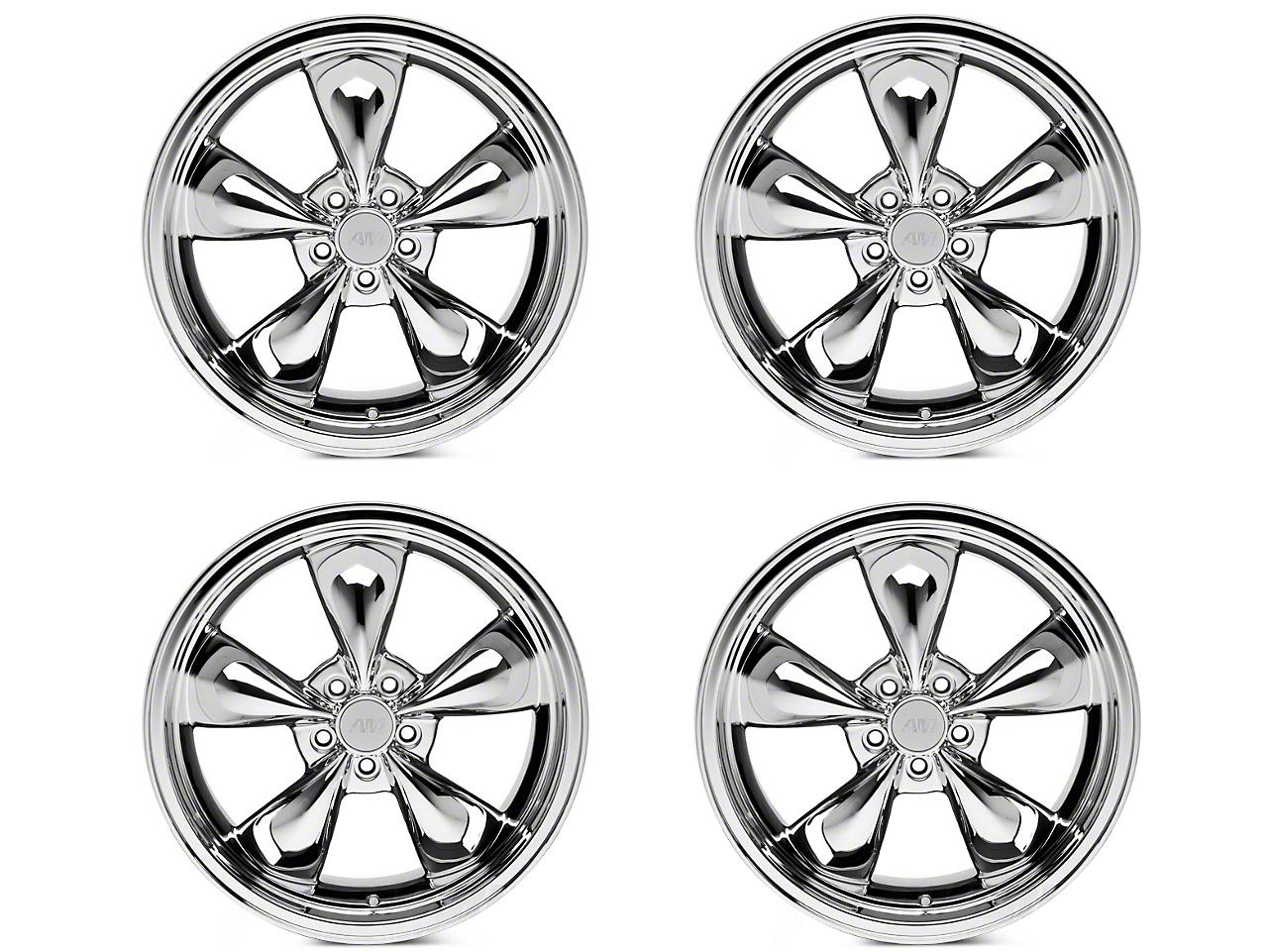 Deep Dish Bullitt Chrome 4 Wheel Kit - 20x8.5 (05-14 V6; 05-10 GT)