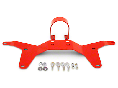 BMR Rear Tunnel Brace w/ Safety Loop - Red (05-14 All)