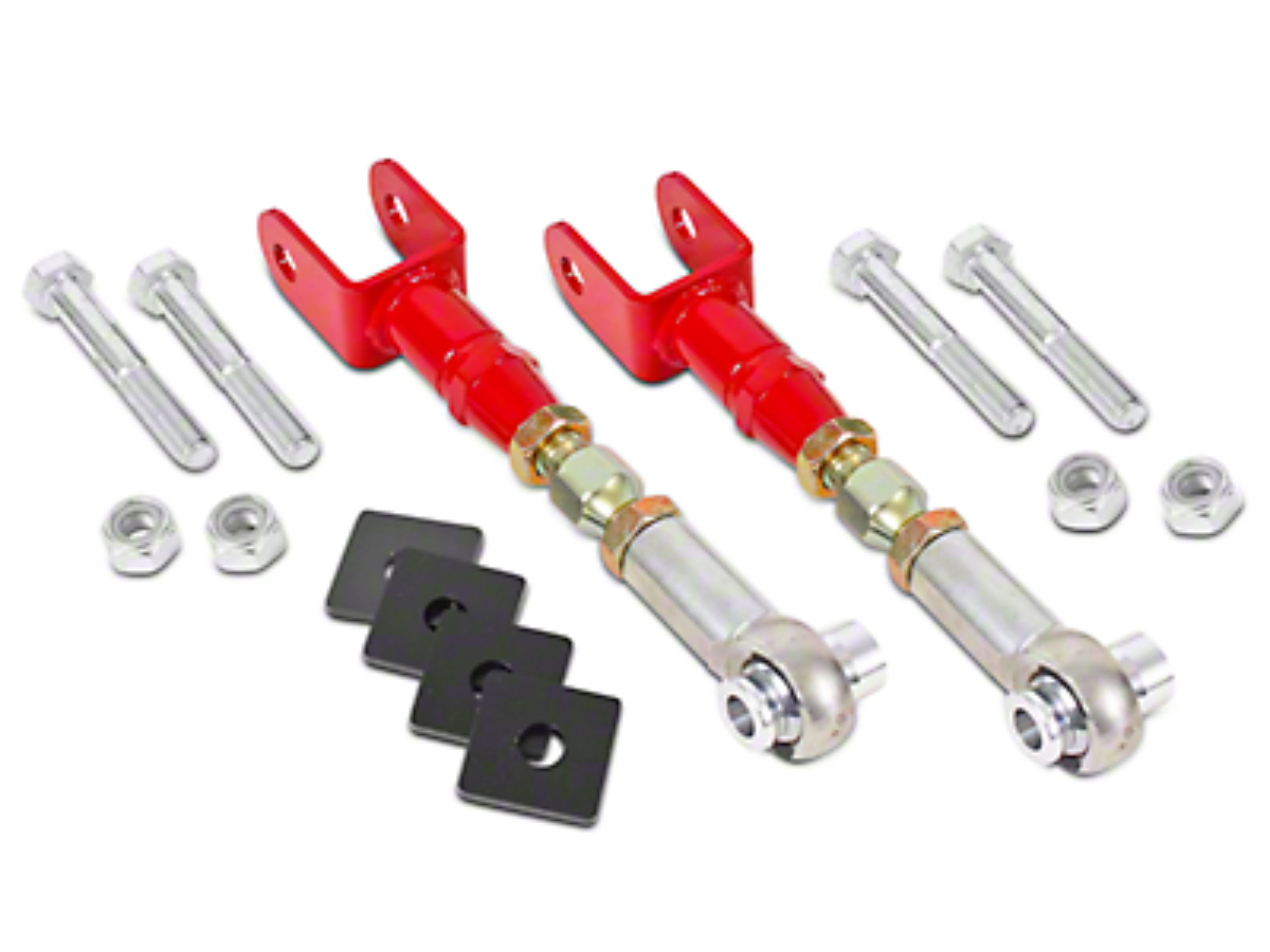 BMR Adjustable Rear Toe Links - Red (15-17 All)