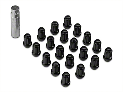 Black 6 Spline Nut Kit - 14mm x 1.50 (15-17 All)