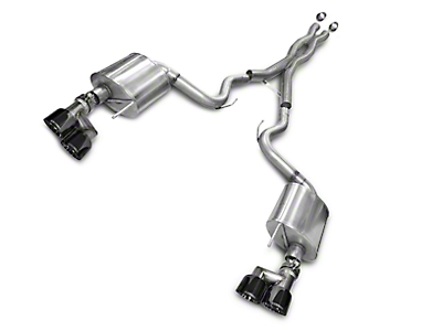 Corsa Sport 3 in. Cat-Back Exhaust - Black Quad Tips (15-17 GT Premium Fastback)