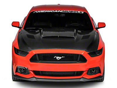 Anderson Composites Ram Air Hood - Double Sided Carbon Fiber (15-17 GT, EcoBoost, V6)