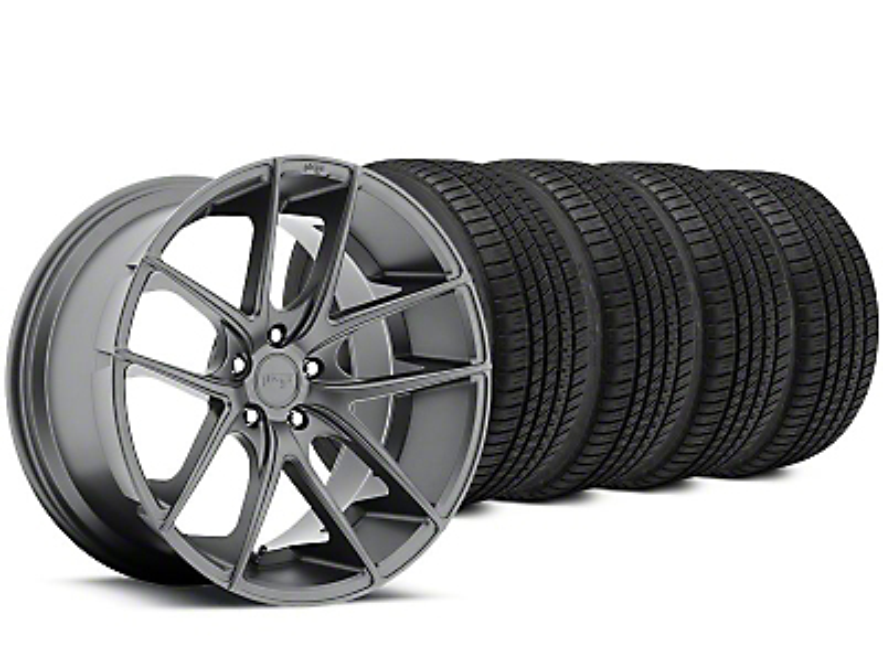 Niche Targa Matte Anthracite Wheel & Michelin Pilot Sport A/S 3+ Tire Kit - 19x8.5 (15-17 All)