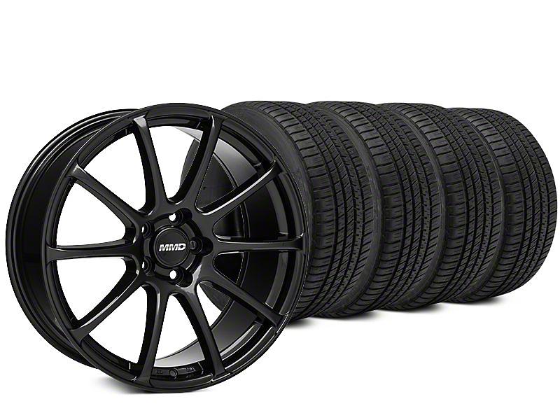 MMD Axim Black Wheel & Michelin Pilot Sport A/S 3+ Tire Kit - 20x8.5 (15-17 All)