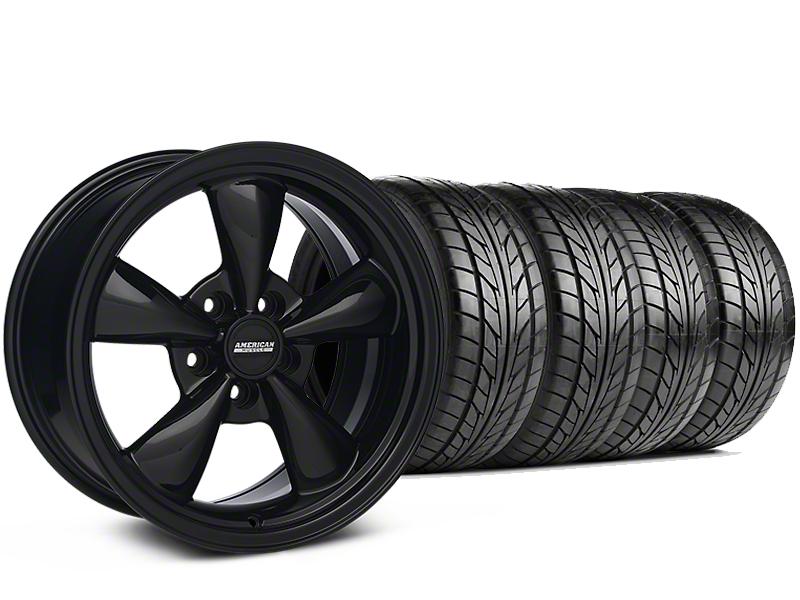 Bullitt Solid Black Wheel & NITTO G2 Tire Kit - 18x9 (99-04 All)