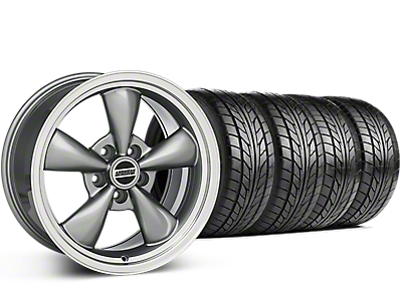 Bullitt Anthracite Wheel & NITTO G2 Tire Kit - 17x9 (87-93 5 Lug Conversion)