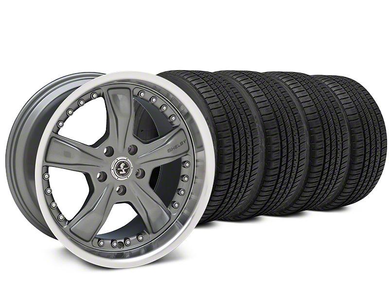 Shelby Razor Gunmetal Wheel & Michelin Pilot Sport A/S 3+ Tire Kit - 20x9 (15-17 All)