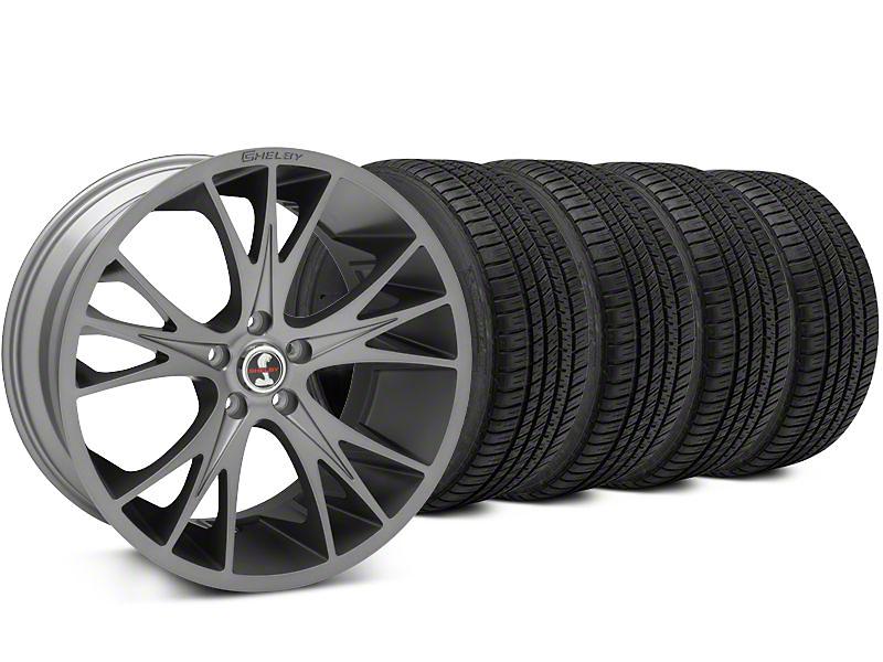 Shelby CS1 Gunmetal Wheel & Michelin Pilot Sport A/S 3+ Tire Kit - 20x9 (15-17 All)