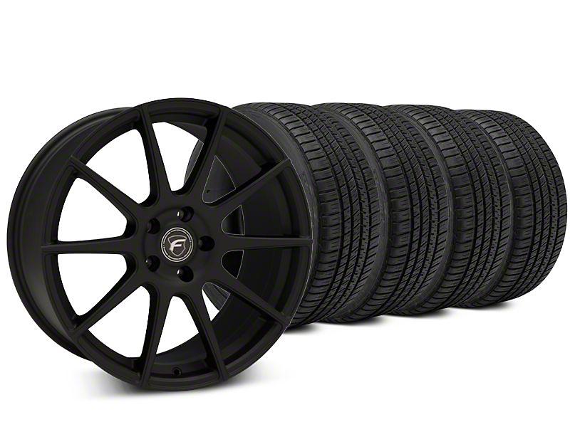 Forgestar CF10 Textured Matte Black Wheel & Michelin Pilot Sport A/S 3+ Tire Kit - 20x9.5 (15-17 All)