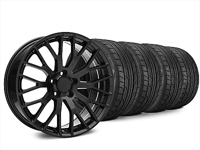 Staggered Performance Pack Style Black Wheel & NITTO NT555 G2 Tire Kit - 20x8.5/10 (15-17 All)