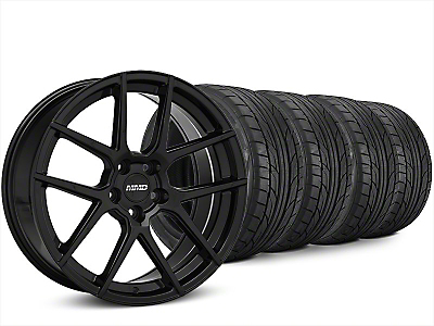 Staggered MMD Zeven Black Wheel & NITTO NT555 G2 Tire Kit - 20x8.5/10 (15-17 All)