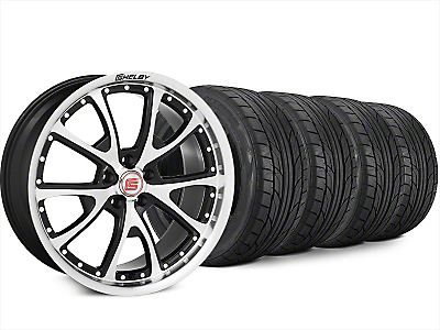 Staggered Shelby CS40 Black Machined Wheel & NITTO NT555 G2 Tire Kit - 20x9/10 (15-17 All)