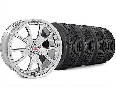Staggered Shelby CS40 Chrome Wheel & NITTO NT555 G2 Tire Kit - 20x9/10 (15-17 All)