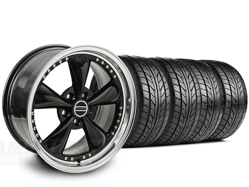 Bullitt Motorsport Black Wheel & NITTO G2 Tire Kit - 18x9 (99-04)