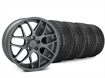 Staggered AMR Charcoal Wheel & NITTO NT555 G2 Tire Kit - 20x8.5/10 (15-17 All)