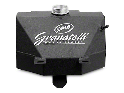 GMS Coolant Expansion Tank w/ Overflow Catch Can - Black Wrinkle Coat (15-17 All)