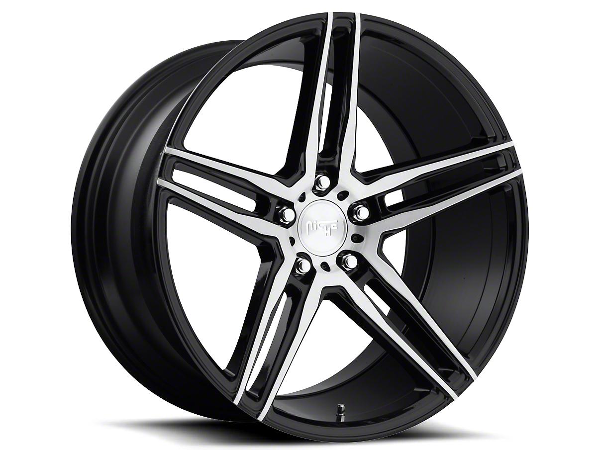 Niche Black Machined Turin Wheel - 20x10 (15-17 All)