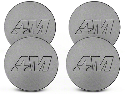 Charcoal AmericanMuscle Center Cap Kit (94-17 All)