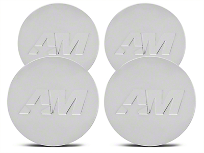 Chrome AmericanMuscle Center Cap Kit (94-17 All)