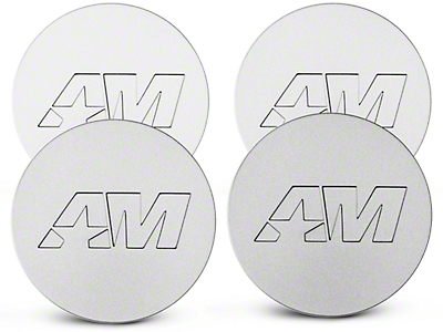 Stainless AmericanMuscle Center Cap Kit (94-17 All)